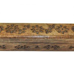 Boite demi rond porte encens en bois