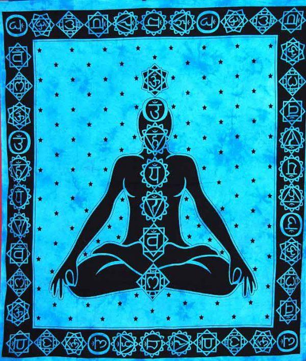 Tenture 7 Chakras - Tenture indienne Méditation