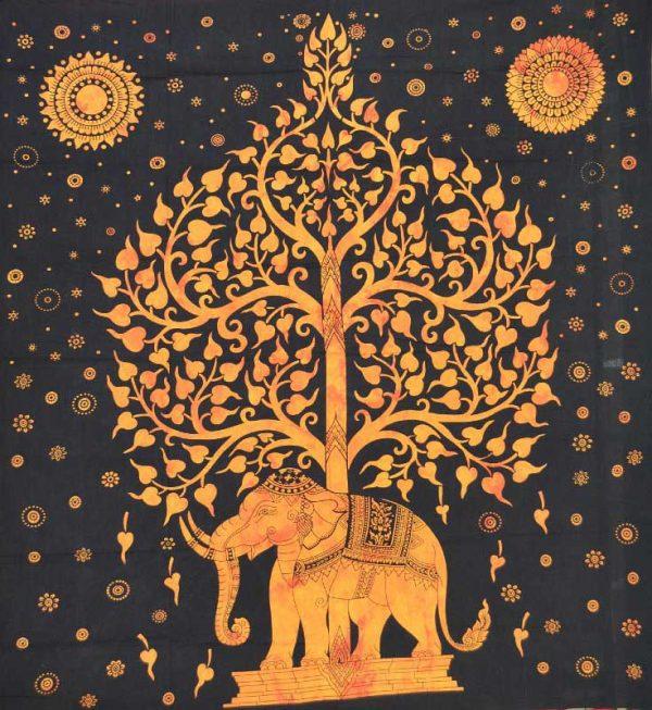 tenture elephant arbre de vie