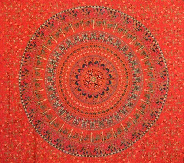 Tenture Indienne Badmeri rouge