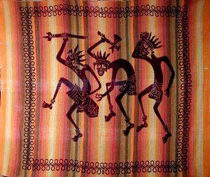 tenture indienne ethnique