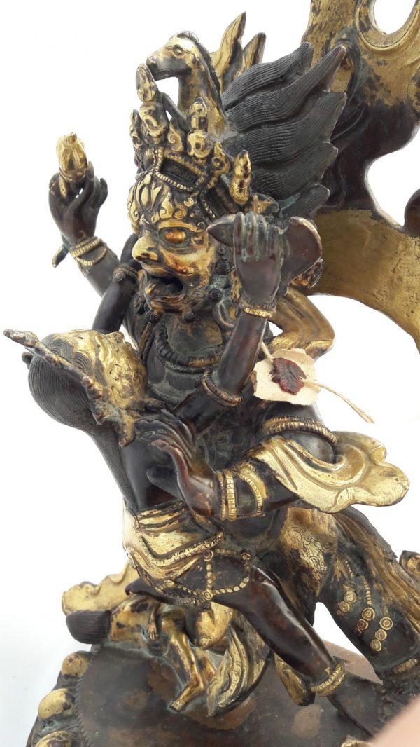 Hevajra et Vajranairātmyā- Statue Bronze et Or - Népal