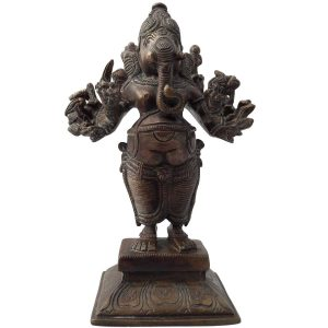 Statue Ganesh  ou Ganapatien Bronze