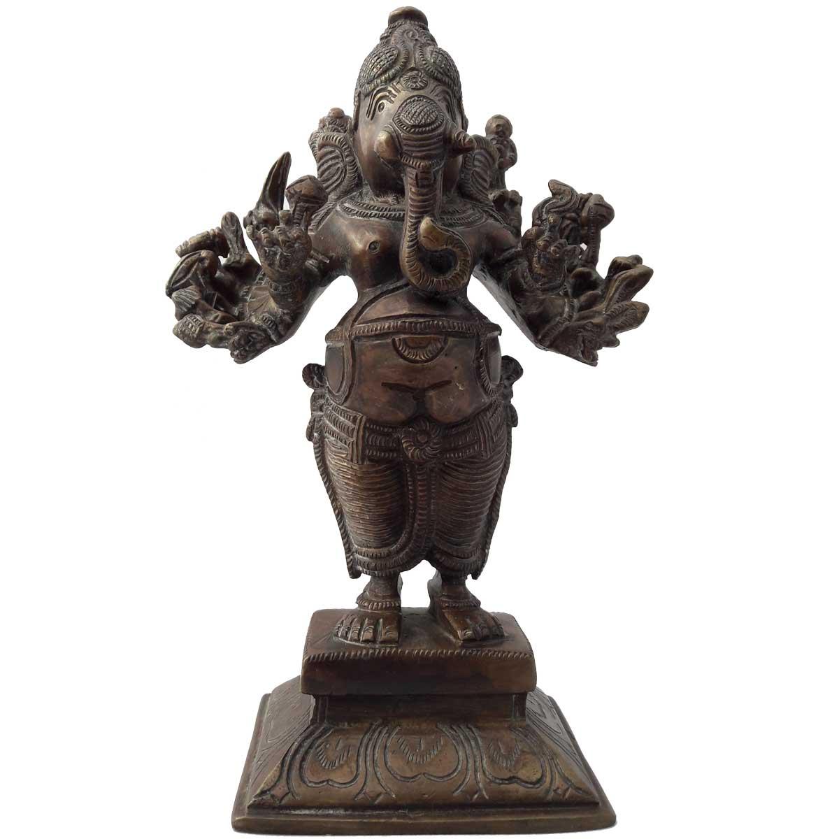 Elephant En Inde Signification statue ganesh ou ganapati en bronze