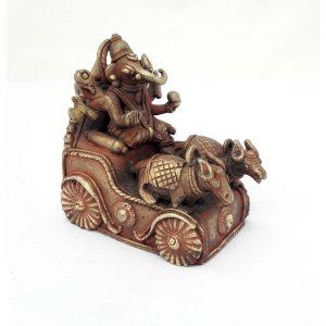 Statue Ganesh en bronze - Inde