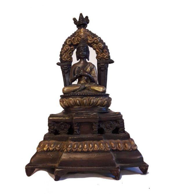Bouddha Vairocana Le Resplendissant - Statue Bronze