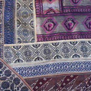 Tenture indienne en Patchwork de saris