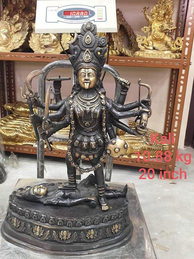 Statue déesse kali en bronze
