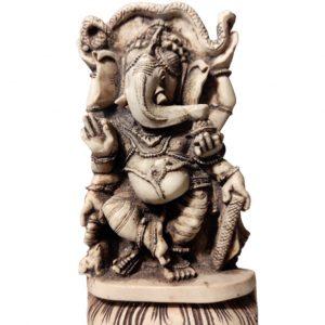 statue Ganesh dansant en résine