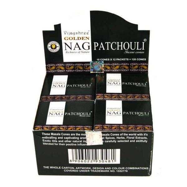Encens Cônes Patchouli - Golden Nag